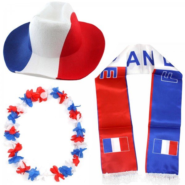 """Fan Package """"France"""" Worldcup Football Soccer Cheer Party SET-1"""