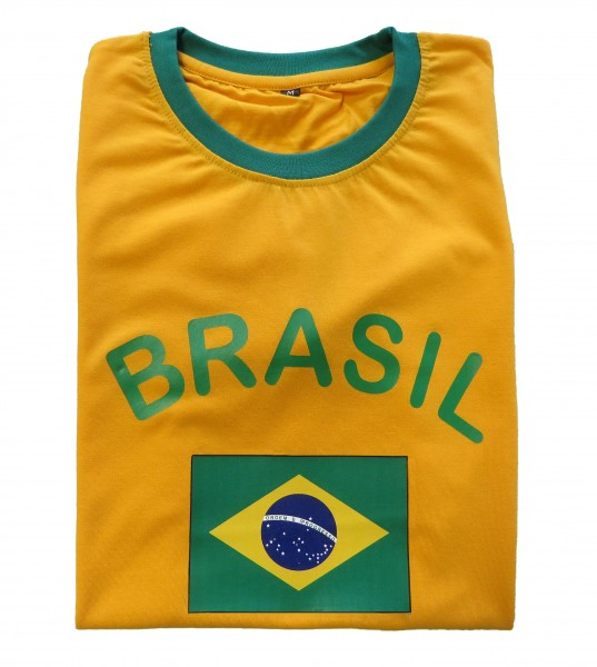 "Fan-Shirt ""Brasil"" Unisex Football Worldcup T-Shirt Men"