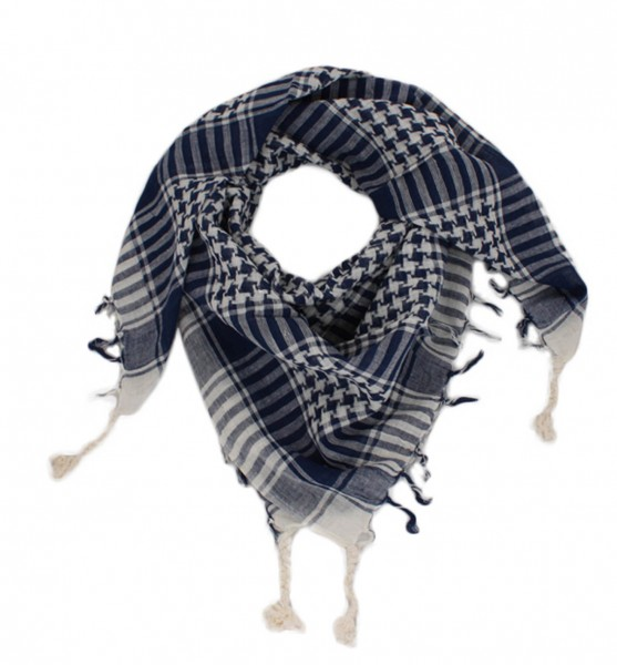 PLO Scarf Fringes Checked Cotton Shawl