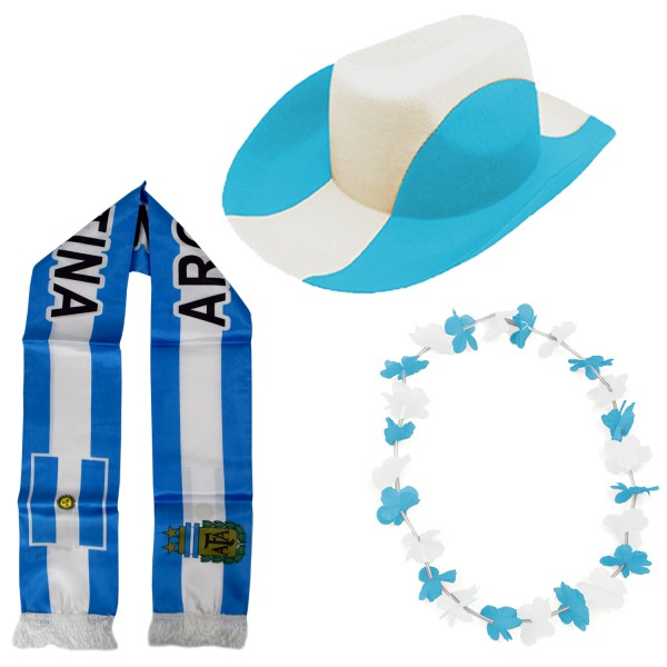 "Fan Package ""Argentinia"" Worldcup Football Soccer Cheer Party SET-1"