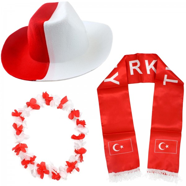 "Fan Package ""Turkey"" Worldcup Football Soccer Cheer Party SET-1"