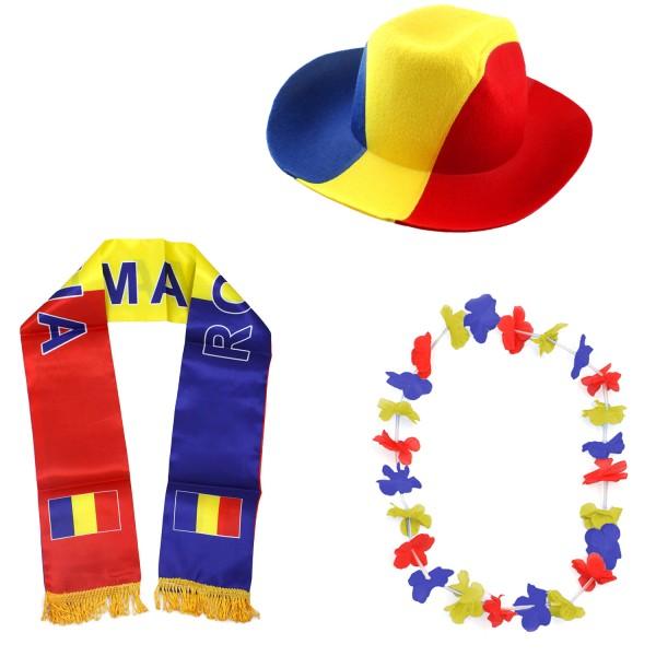 """Fan-Paket-1 """"Rumänien"""" WM EM Fußball Fan Anfeuern Party"""