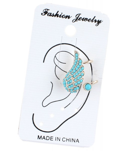 Clip Earring Blink Jewellery Turquoise
