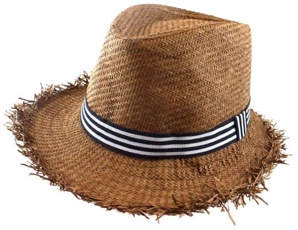 Beach Hat Stripes Straw Hat Fringes Unisex