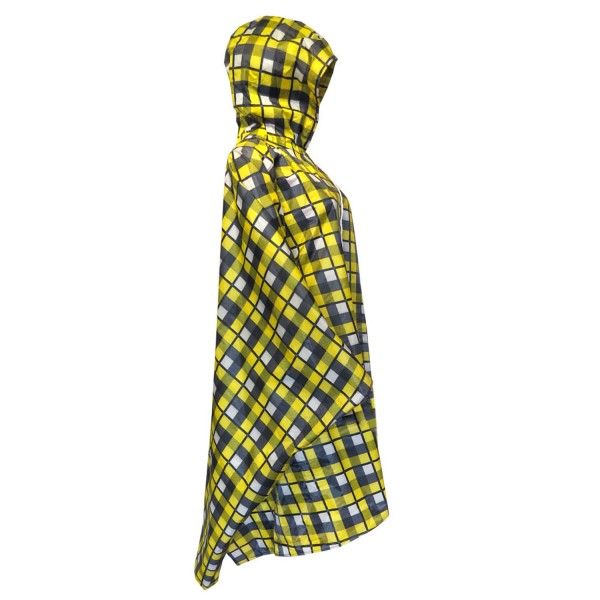 "Rainponcho ""Checked"" Raincape Protection Yellow"