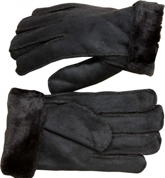 Handschuhe Finger Kunstfell Mikrosamt Winter Unisex