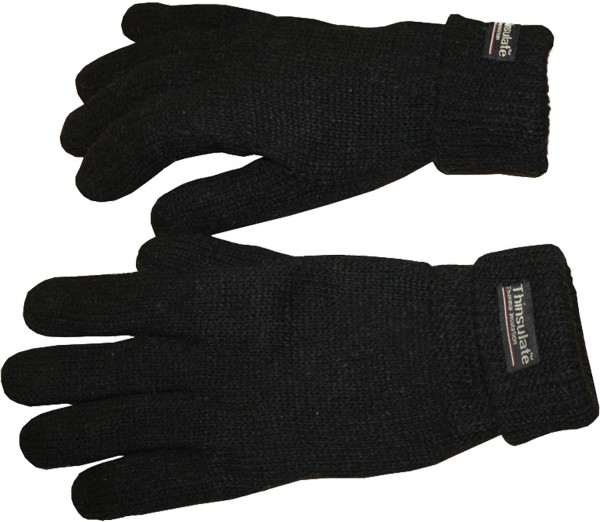 Knitted Gloves Unicolor Fleece Wool Unisex