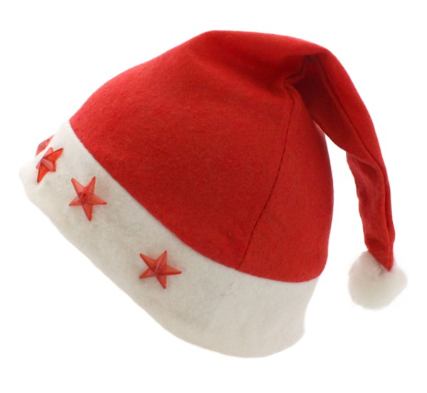 """Weihnachtsmütze """"Sterne"""" Beleuchtung Blinklicht Cap"""