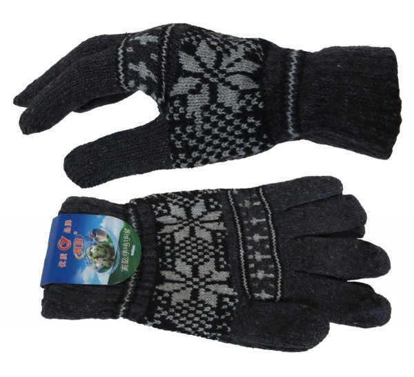 Knitted Gloves Winter Snowflakes Unisex
