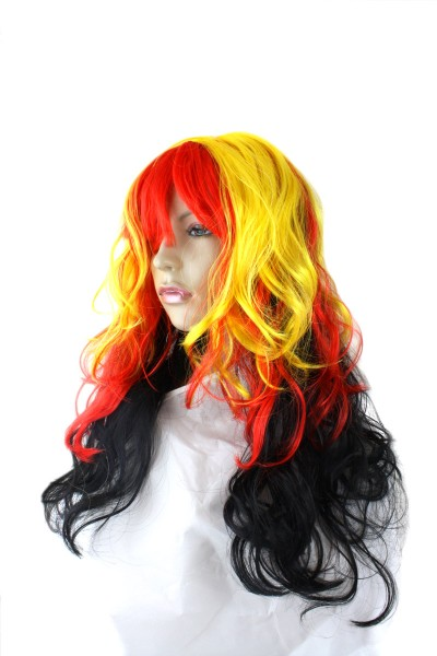 "Wig ""Long Hair Curl"" Headgear World Cup Fan Party Carneval"