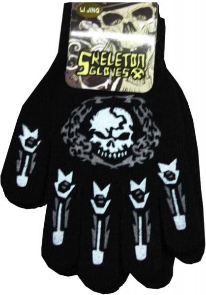 Knitted Gloves Halloween Printed Skull Costume Unisex