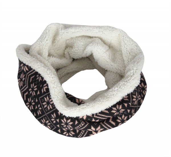 "Loop ""Flower"" Schal Kuschelfell Polyester Winter"