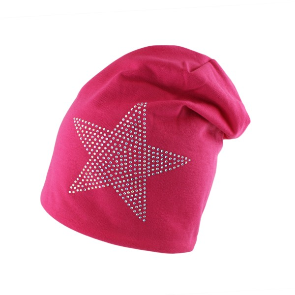 "Fleece Beanie ""Stern Strass"" Steine Unisex Winter Jersey"