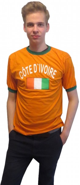 "Fan-Shirt ""Côte d'ivoire"" Unisex Football Worldcup T-Shirt Men"