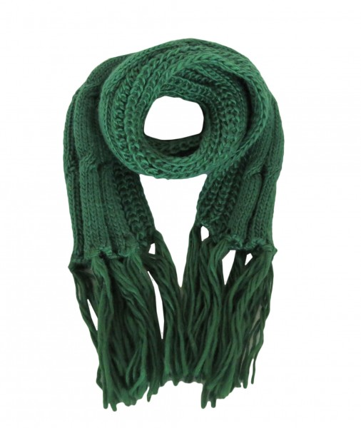 Scarf Polyacrylic Cable Pattern Knitted Winter