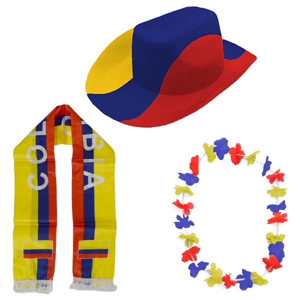"Fan Package ""Columbia"" Worldcup Football Soccer Cheer Party SET-1"