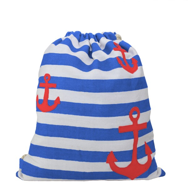 "Gymbag ""Mini Anchor"" patch stripes maritime"