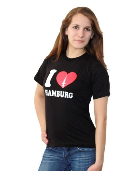 "Kinder T-Shirt ""I Love Hamburg"" Fernsehturm Baumwolle"