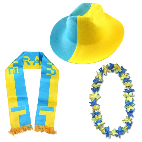"Fan Package ""Ukrain"" Worldcup Football Soccer Cheer Party SET-1"