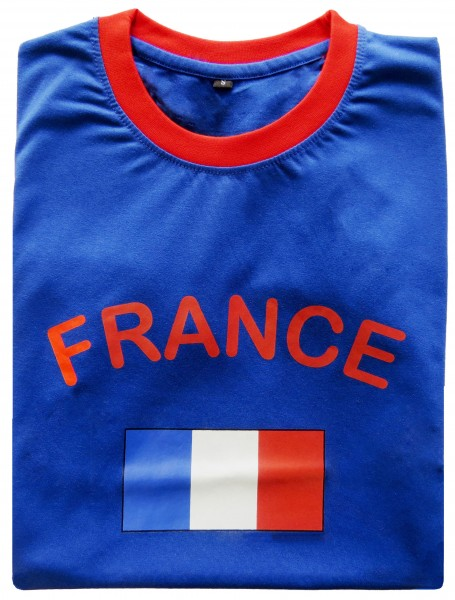 "Fan-Shirt ""France"" Unisex Football Worldcup T-Shirt Men"