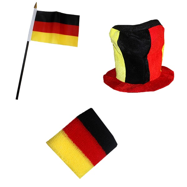 Fan Package Worldcup Countries Football Hat Sweatband Mini Flag SET-13