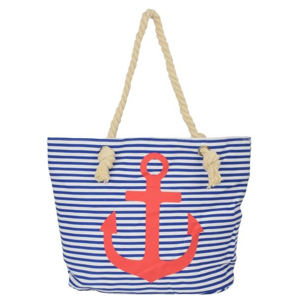 "Strandtasche Anker ""Lena"" Beachbag Shopper Maritim Streifen"
