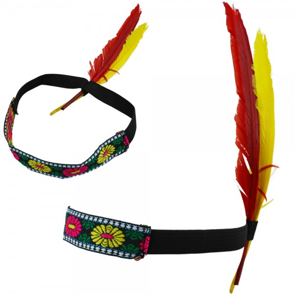 "Hippie ""Indian Headband"" Native American Feather Bandeau"