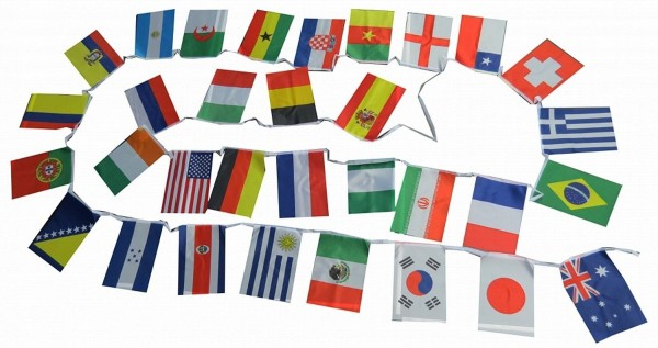 Flag Garland Worldcup 32 Countries Fan Football 10,5 Meter