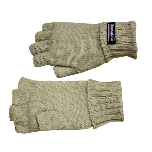 Knitted Gloves Halffinger Wool Fleece Winter Unsiex