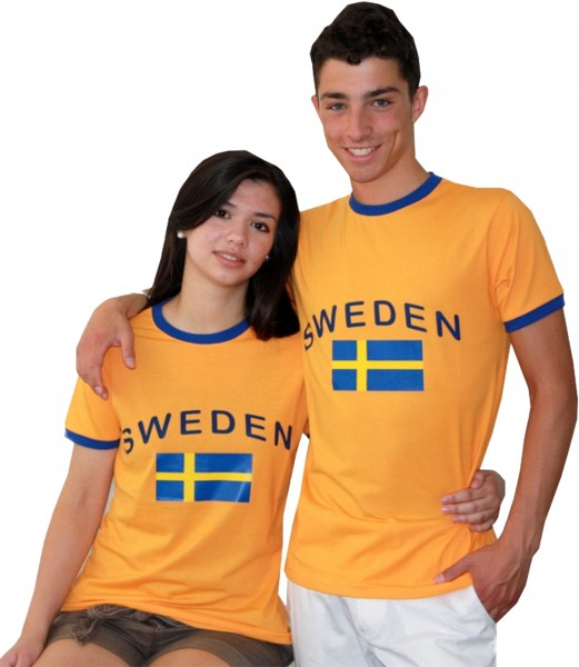 "Fan-Shirt ""Sweden"" Unisex Football Worldcup T-Shirt Men"