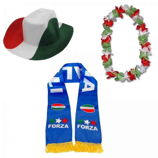 "Fan-Paket-1 ""Italien"" WM EM Fußball Fan Anfeuern Party"