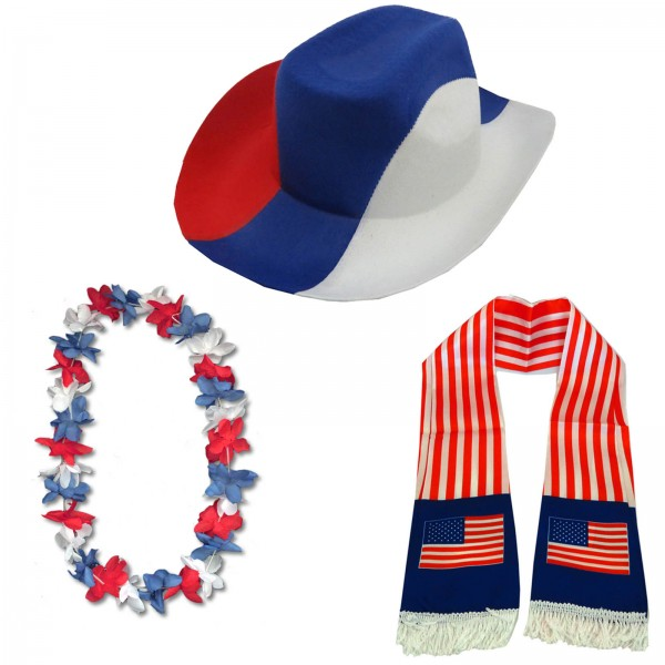 "Fan Package ""USA"" Worldcup Football Soccer Cheer Party SET-1"