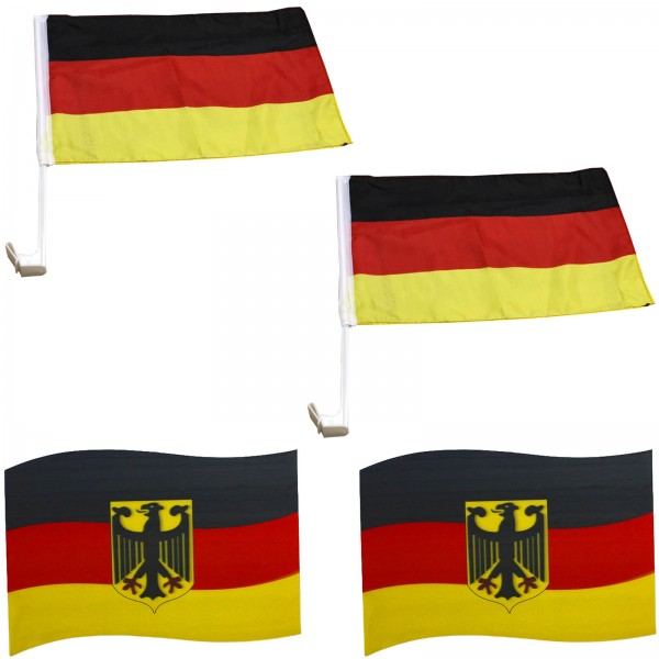 """Fan-Package """"Car"""" Worldcup Countries Football Flags Magnet SET-5"""