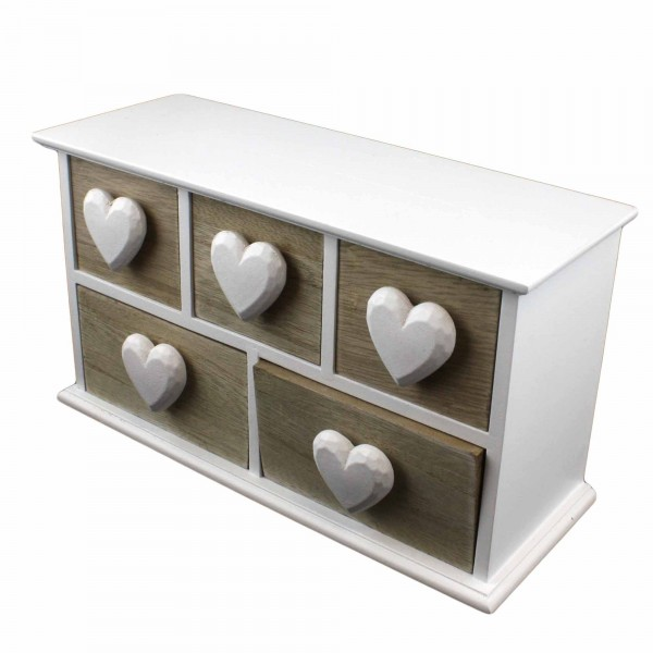 "Decoration ""Jewellery Box"" Heart Shabby Chic"