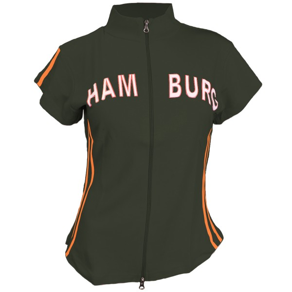 "Zip Top ""Hamburg Girls"" Cotton Shirt"