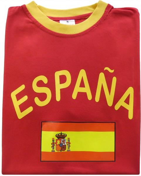 """Fan-Shirt """"España"""" Unisex Fußball WM EM Herren T-Shirt"""