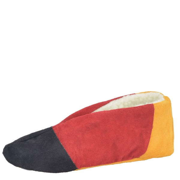 "Genuine Leather Indoor Slipper ""Kult"" Teddy Fur Lining"