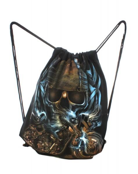"""Backpack """"Fantasy"""" Biker Gymbag Backpack Black"""