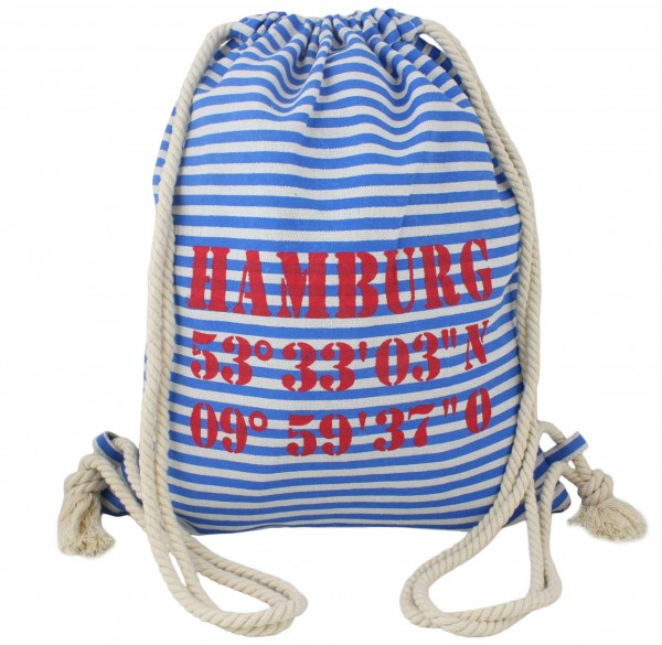 "City Rucksack ""Hamburg"" Tasche Bag Backpack Maritim"