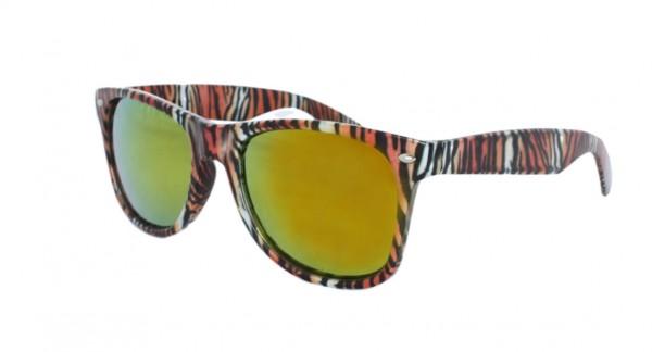 Sonnenbrille Leo Blume Verspiegelt Muster Party Fun