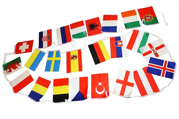 "Flag Garland ""Europe"" 24 Countries Fan 7 Meter Football"
