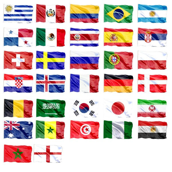 Worldcup Super Set 32 Flags 90 x 150cm Football Soccer Fan Party SET