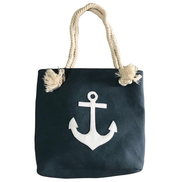 "XS Beach bag ""Anchor Patch"" girls shopper maritime"