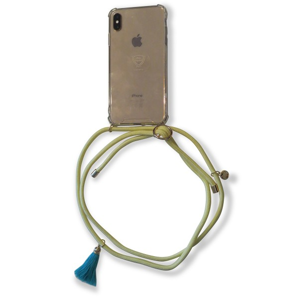 Mobile necklace yellow for Samsung with tassles Necklace Smartphone Chain