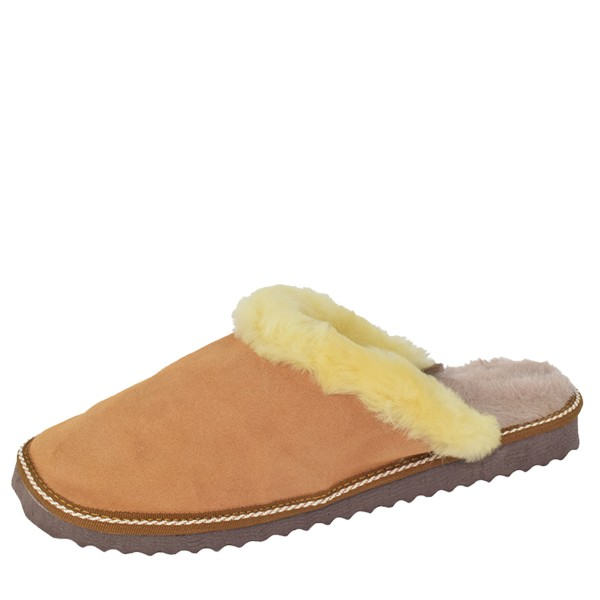 "Women Slipper ""Deluxe"" Real Leather Lambfur Lining Sole"