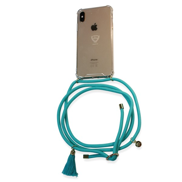 Mobile necklace turquoise for Samsung with tassles Necklace Smartphone Chain