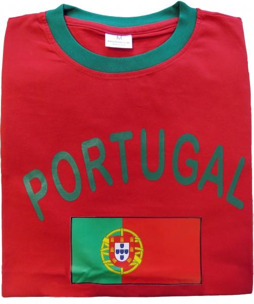 """Fan-Shirt """"Portugal"""" Unisex Fußball WM EM Herren T-Shirt"""