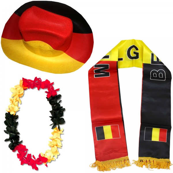 "Fan Package ""Belgium"" Worldcup Football Soccer Cheer Party SET-1"
