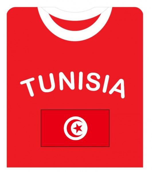 """Fan-Shirt """"Tunesia"""" Unisex Fußball WM EM Herren T-Shirt"""