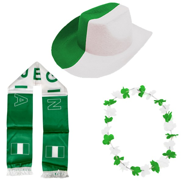 """Fan Package """"Nigeria"""" Worldcup Football Soccer Cheer Party SET-1"""